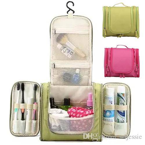 f1dec53cbe52 Portable Large Hanging Toiletry Bag Travel Bag Waterproof Cosmetic makeup  bag Bathroom Storage Makeup Organizer one size many colors