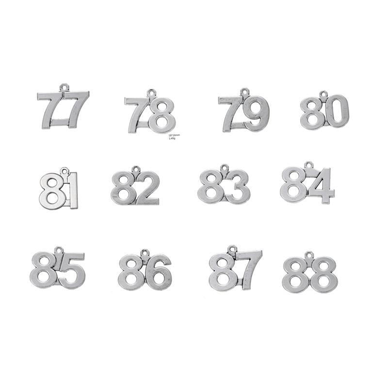 11b350c8f3c60 77 - 88 Small Number Charms or Pendants for All Occasions Antique Silver  Wholesale Bulk lot 77 78 79 780 81 82 83 84 85 86 87 88