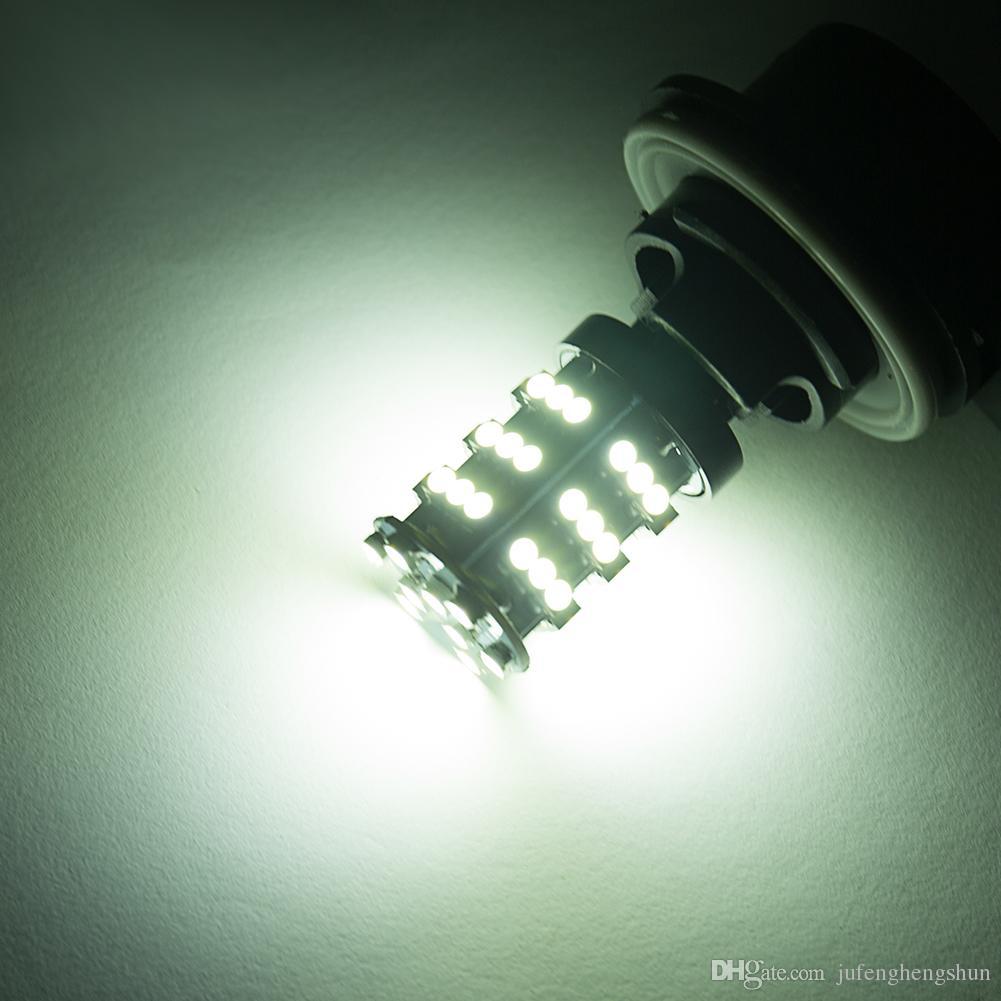10 Adet LED Araba Ampul 3157 54Smd 3528 12 V Beyaz LED Ampul DRL Gündüz Koşu Dönüş Sinyalleri Yedekleme Ters Işık Evrensel LED Lamba