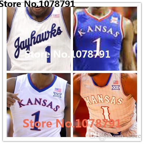 Hot Sale 2016 NCAA Wayne Selden Jr Jersey, #1 KU \u0027s Kansas Jayhawks Jerseys,Mens  100% Double Stitched College Basketball Jerseys,XXS-6XL High Quality ...