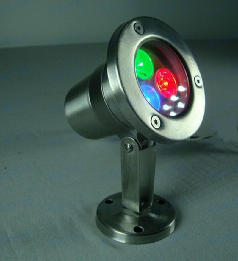 LED 수 중 빛 따뜻한 화이트 3W 12V 램프 방수 IP68 분수 풀 램프 조명 스테인레스 스틸 K-UL1845