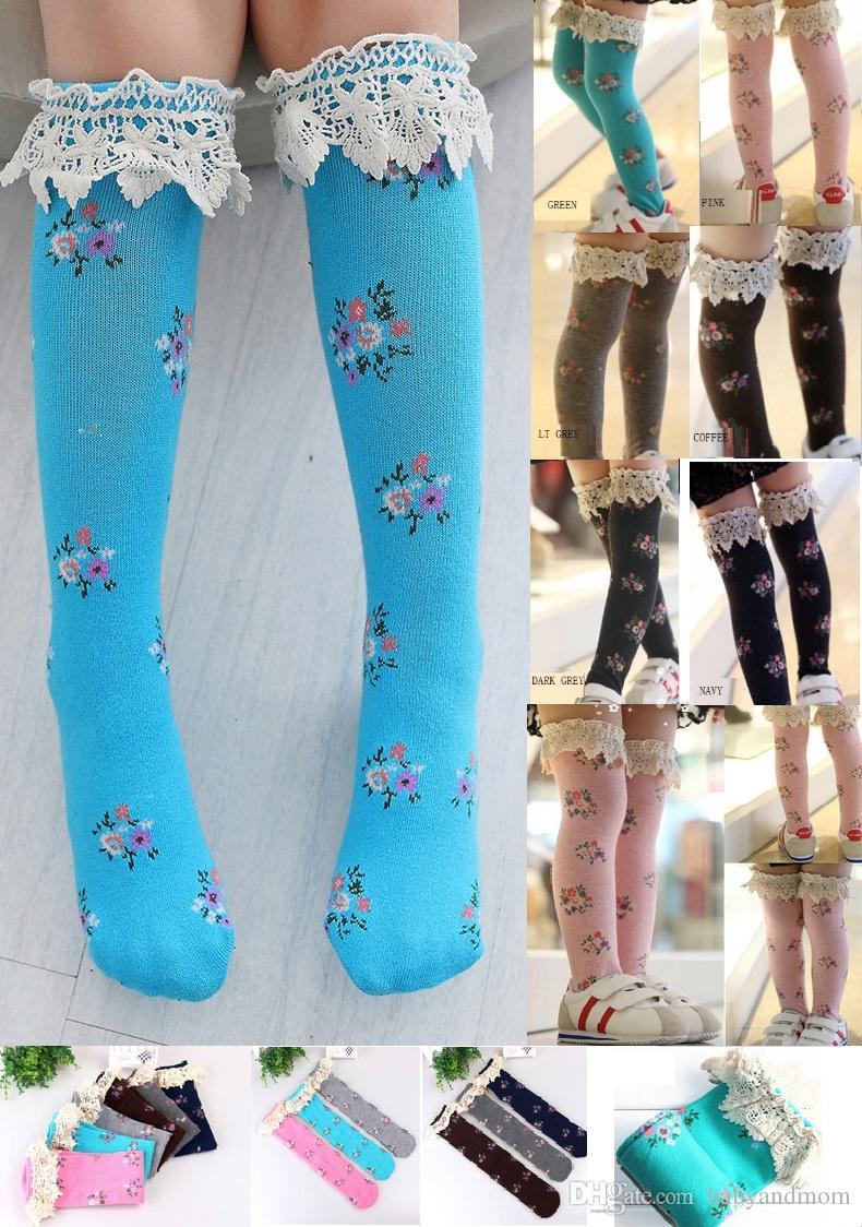 2b6e1828a5a9a9 Girls In Tube Lace Socks Leggings 2016 NEW Lovely Girls Lace 38cm In Tube  Socks Leggings Cool Sock Brands Merino Wool Socks From Babyandmom, $1.71|  DHgate.