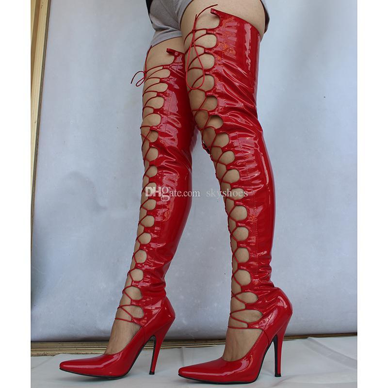 Wonderheel más de 71 cm de longitud zapatos SEXO Fetish Drag Queen 12cm 5