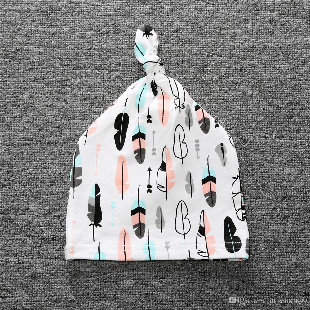 Детские шапки младенцы новорожденный узел шляпа капот 0-2years хлопок Birthbaby Ins фрукты животных 2019 новая весна лето осень Оптовая 19prints