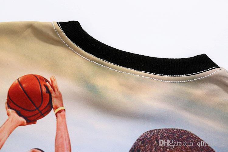 3D 남성 캐주얼 스웨터 카레 카레 올스타 MVP 730 인쇄 남성용 긴팔 스웨터