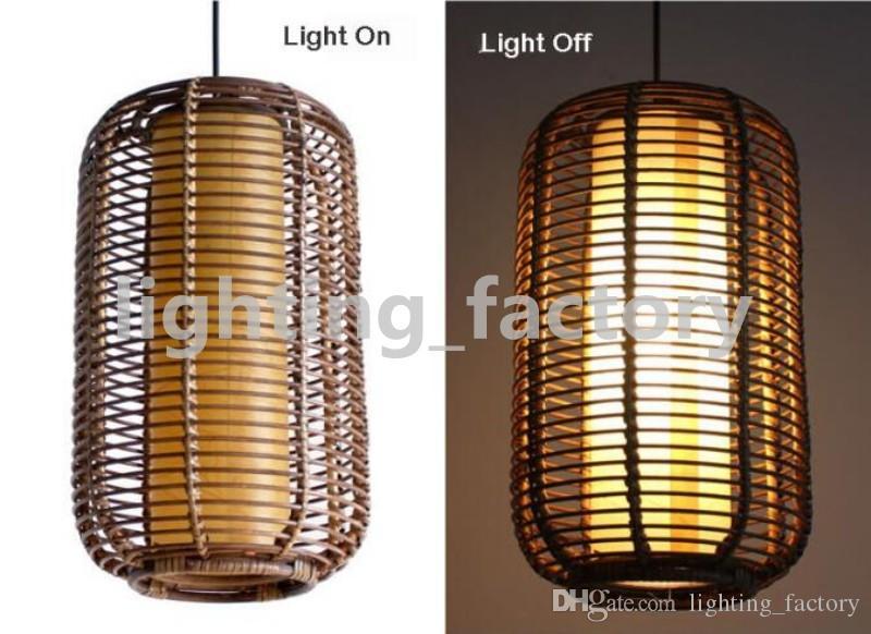 Southeast Asia Handmade Rattan Restaurant Ceiling Pendant Light Lantern Living Room Pendant lamp Restaurant Pendant Lighting