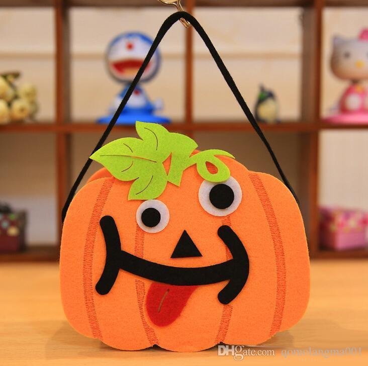 Halloween włókniny Torba Cukierkowa Tkaniny Dyni Torba Masquerade Party Decoration Bag Halloween Rekwizyty dla dzieci Dzieci