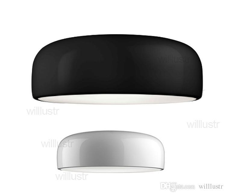 الألومنيوم الحديثة تصميم الإضاءة مصباح السقف الضجيج غرفة المعيشة غرفة نوم حانة الفندق مكتب مطعم ضوء عموم 35CM 48CM 60CM أبيض أسود