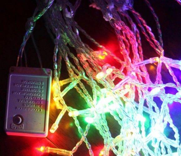 4M 얼음 주도 문자열 조명 신년 실내 조명 화환 별 모델링 led luminarias 크리스마스 장식 100SMD 18 별