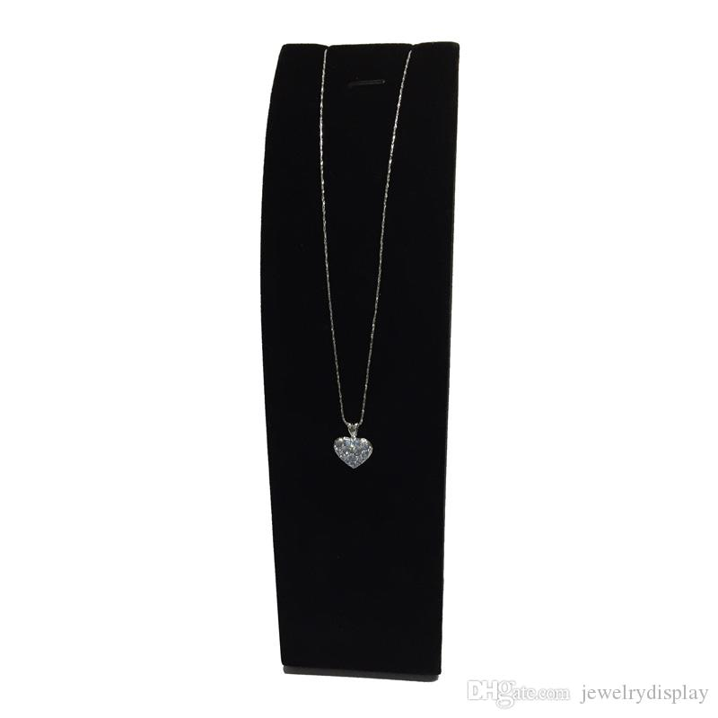 Elegant Jewelry Display Props Pendant Display Stand Velvet Vertical Jewelry Display Stand Rack Holder For Necklace
