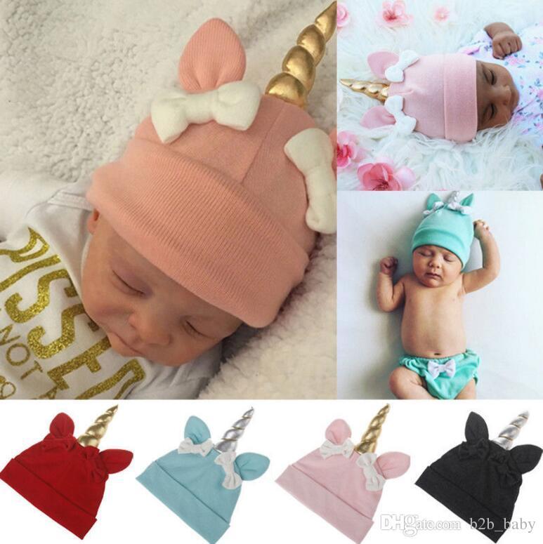 Baby Unicorn Hats Winter Newborn Bow Hats Warm Cartoon Unicorn Caps Warm  Unicorn Beanie Hat Infant Kid Crochet Knit Cap KKA3148 UK 2019 From  B2b baby 4b2c357a1085