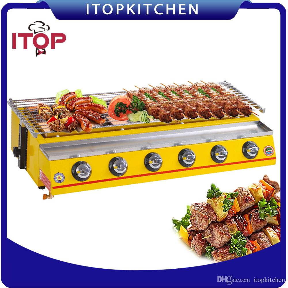 2018 itop 6 burners bbq grill commercial smokeless outdoor barbecue