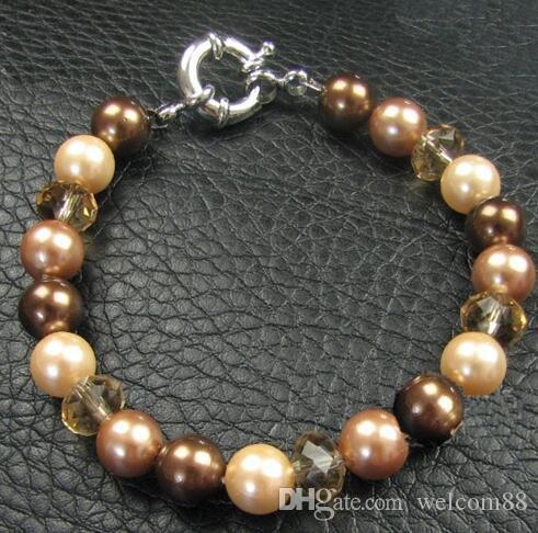 5 pçs / lote 925 Sterling Silver Clasps ganchos de conclusões para componentes de jóias de artesanato DIY 10mm wp335 *