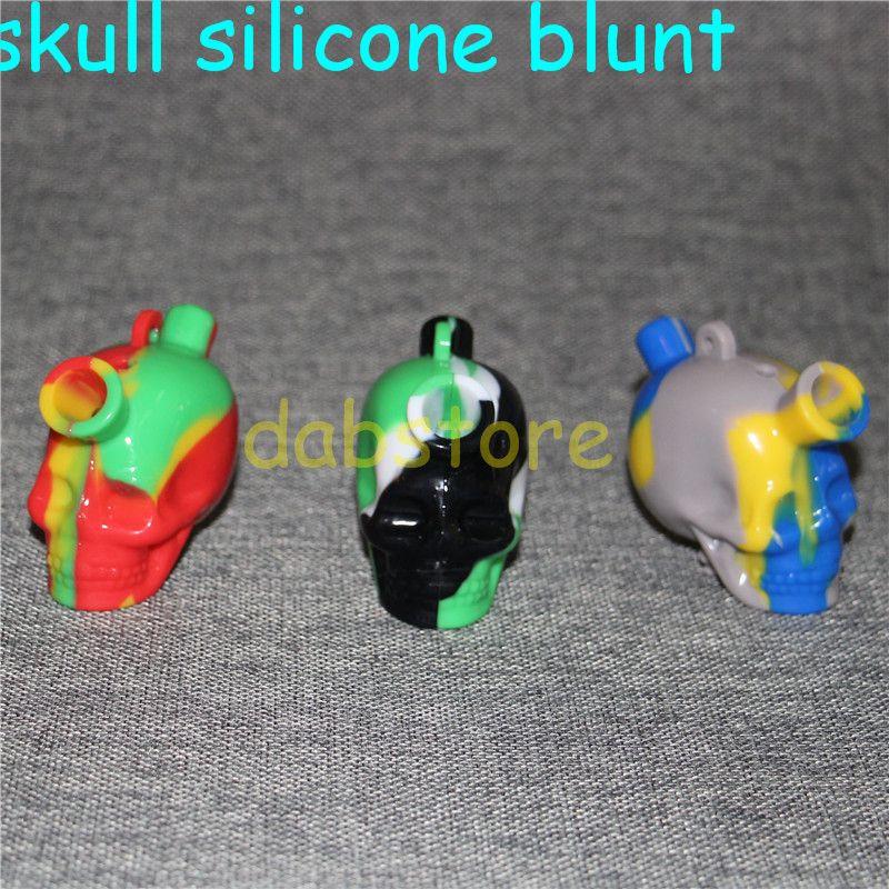 Crâne de pipe de pipe de marteau de Bubbler de marteau de silicone de catégorie comestible fumant des canalisations