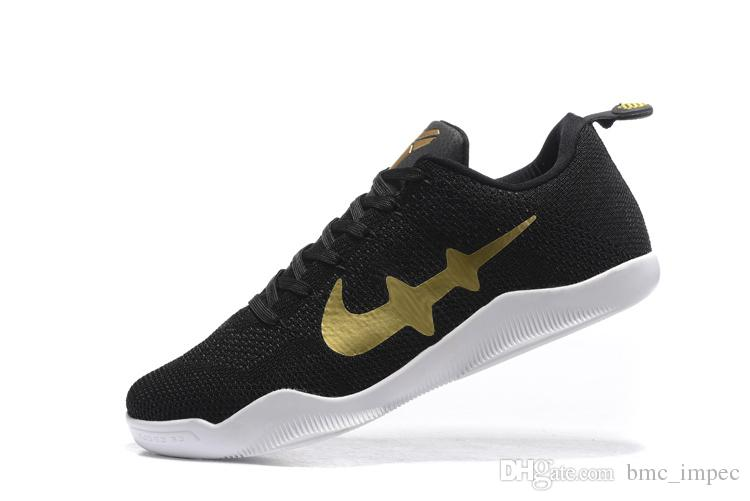 low priced 59fd8 5e328 Acheter Hommes Kobe 11 Em Mamba Jour Chaussures De Basket Ball Kb Xi Low  Cut Mush Elite Chaussures De Sport Athlétique Dark Black Bule Purple  Sneakers Us7 ...