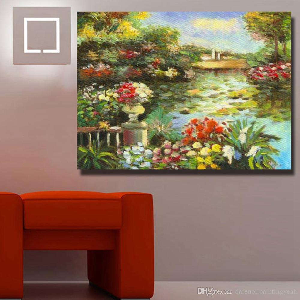 Hand Made Sea Landscape Oil On Canvas Beautiful Oil Painting Abstract Modern Canvas Wall Art Living Room Decor Picture