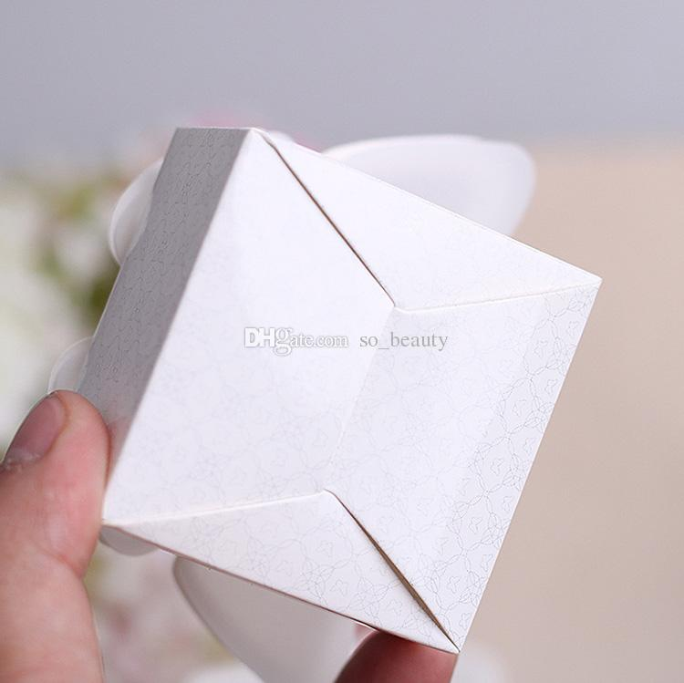 White Butterfly Candy Boxes Wedding Faovrs Christmas Anniversary Party Gift Paper Box New