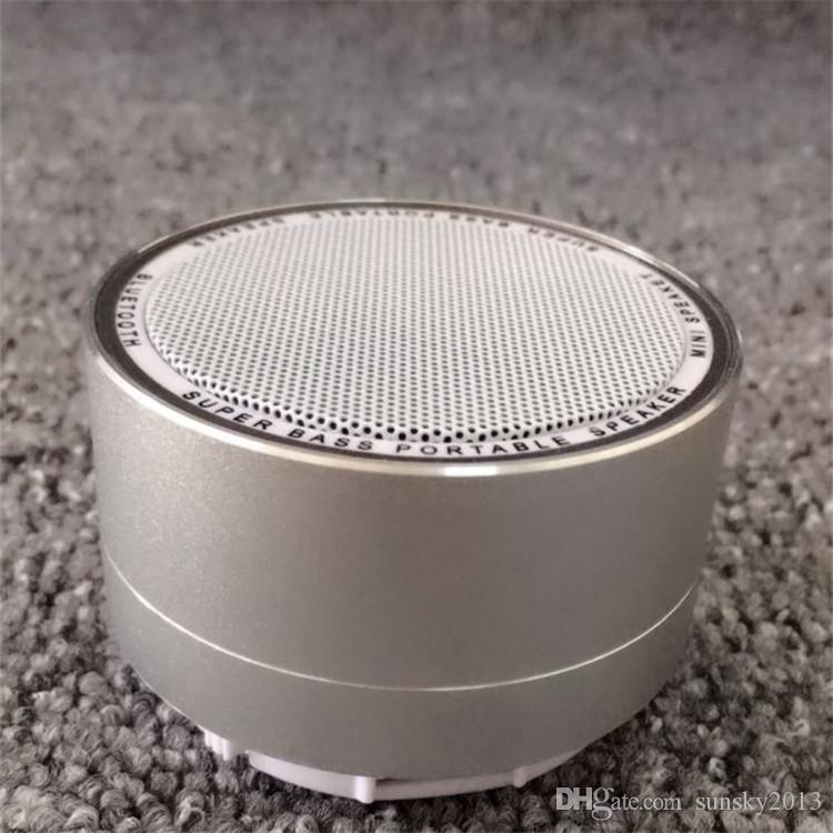 Mini Wireless Bluetooth Speaker Modern Aluminum Alloy Cylinder Speakers Subwoofers TF Card FM Radio LED Portable BT Loudspeaker A10