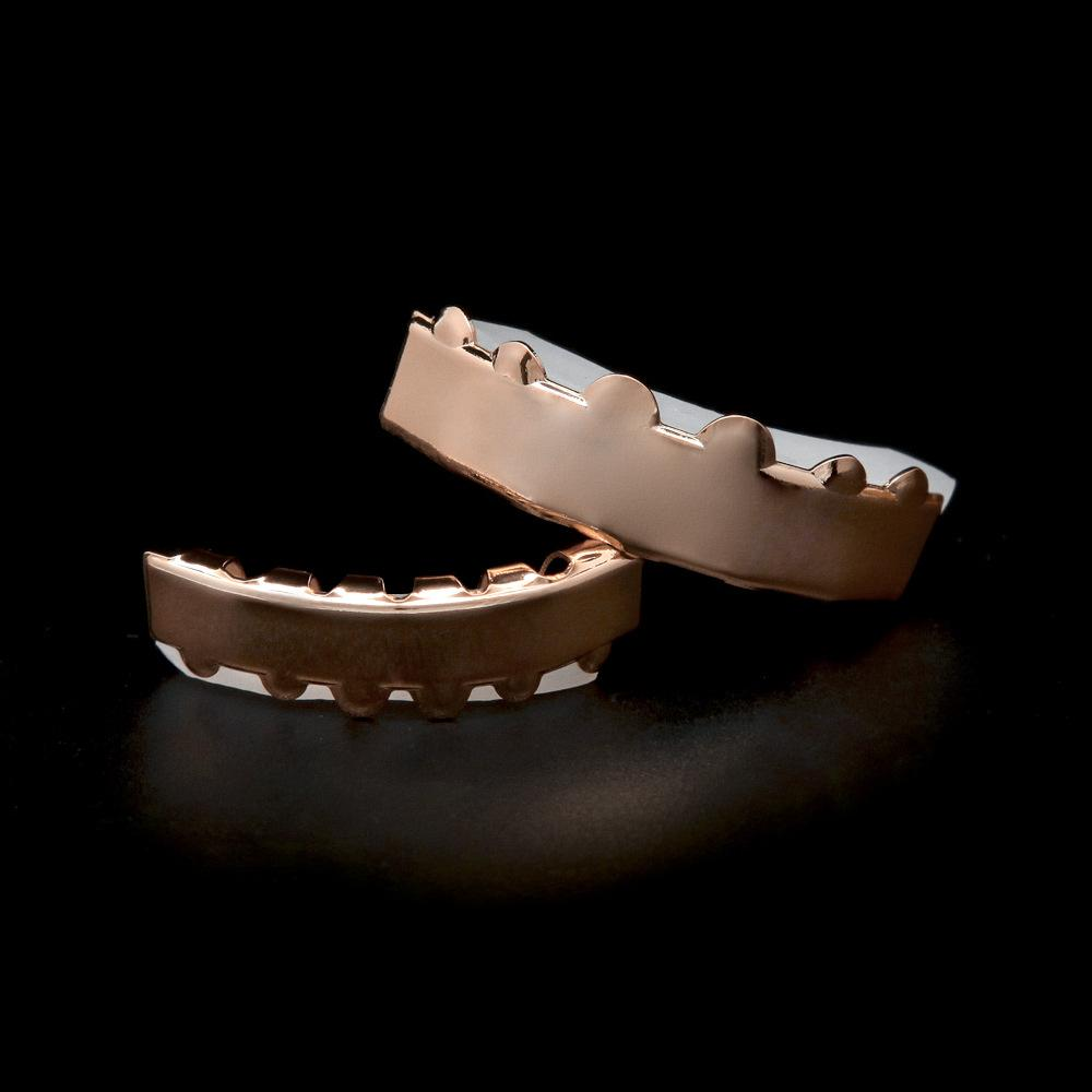 Pop Hiphop Grillzs For Mens Top Quality Rose Gold Grillz Luxury Hip Hop Jewelry 2017 New Arrival