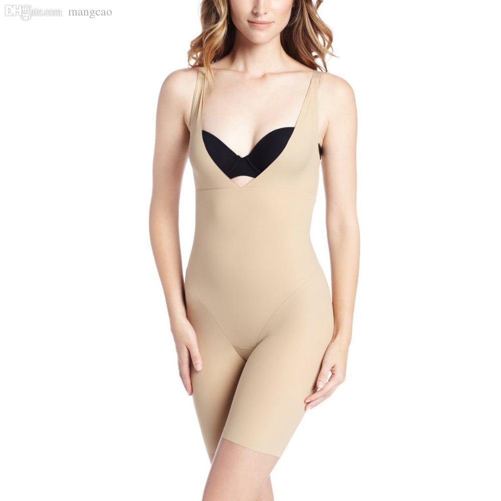 9c9cb6af5b0f Wholesale-Women One Piece Bodysuits Shaperwear Solid Black Skin ...