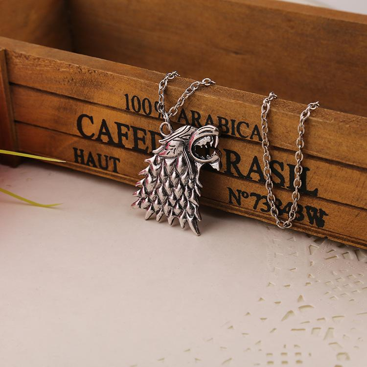 Fashion Game of Thrones Stark Vintage Silver Pendant Necklace Jewelry