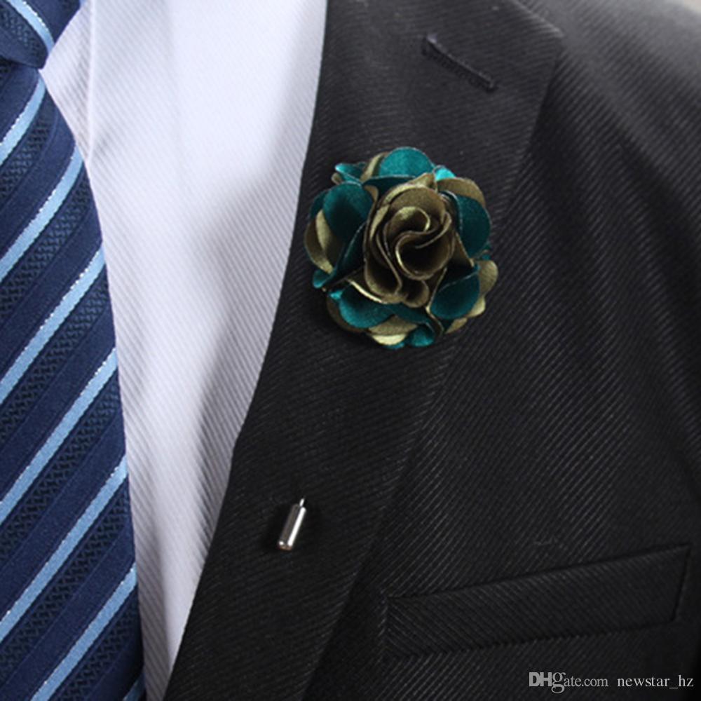 2018 Handmade Unisex Lapel Flower Suit Pins Brooches Engagement ...