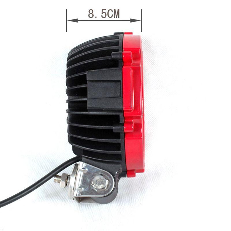 6 pulgadas 51W de alta potencia para automóviles Redondo LED luz de trabajo 12V Spot Flood Impermeable Para 4x4 Offroad ATV Truck Driving Fog Lamp
