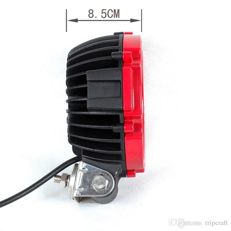 "7"" 51W HIGH POWER VEHICLE LED WORK LIGHT PURE WHITE 10-30V FORKLIFT ATV TRUCK MINING SPOT BULB,red and black colour"