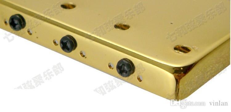 T02 cadenas de guitarra de color dorado Puente Saddle Hardtail Bridge Top Load Guitarra Eléctrica Puente de guitarra piezas de accesorios