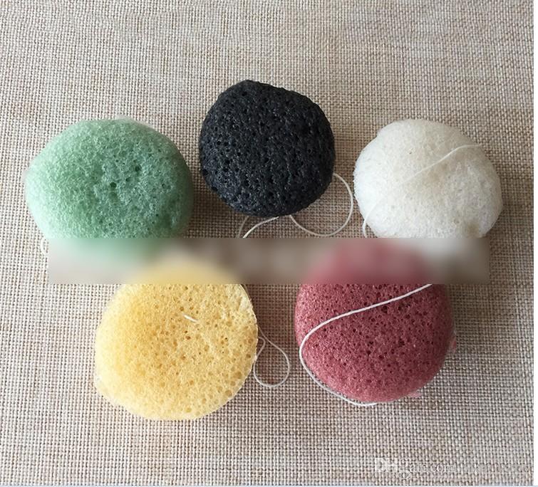 Konjac Esponja Puff Herbal Esponjas faciales Pure Natural Konjac Fibra vegetal que hace herramientas de limpieza para la cara y el cuerpo KB405