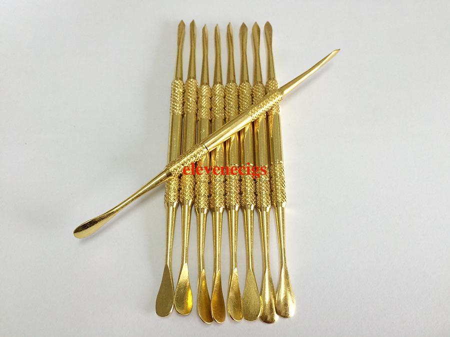E-sigara aksesuarları altın renk balmumu dabber aracı paslanmaz çelik dab araçları titanyum tırnak kuru ot buharlaştırıcı kalem