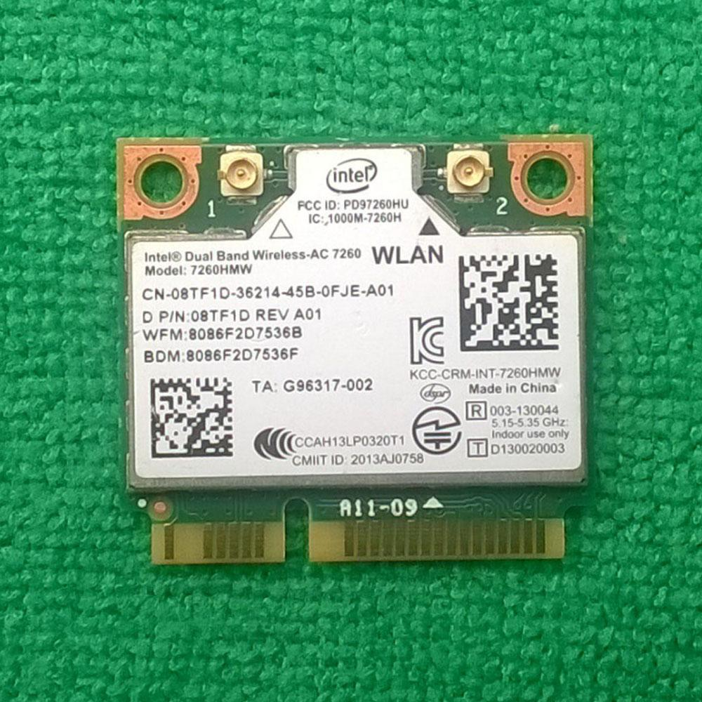 Wholesale- Int Dual Band Wireless-AC 7260 Wifi & Bluetooth 4 0 Card 7260NGW  , D P/N: 08TF1D