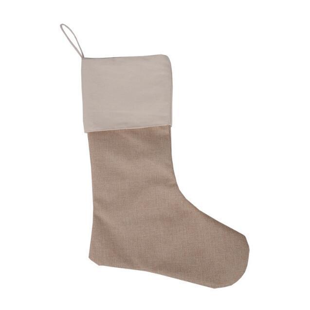 12 * 18 pollici di alta qualità 2017 tela calza di Natale borse regalo tela Natale Natale calza di grandi dimensioni pianura tela decorativo calzini borsa
