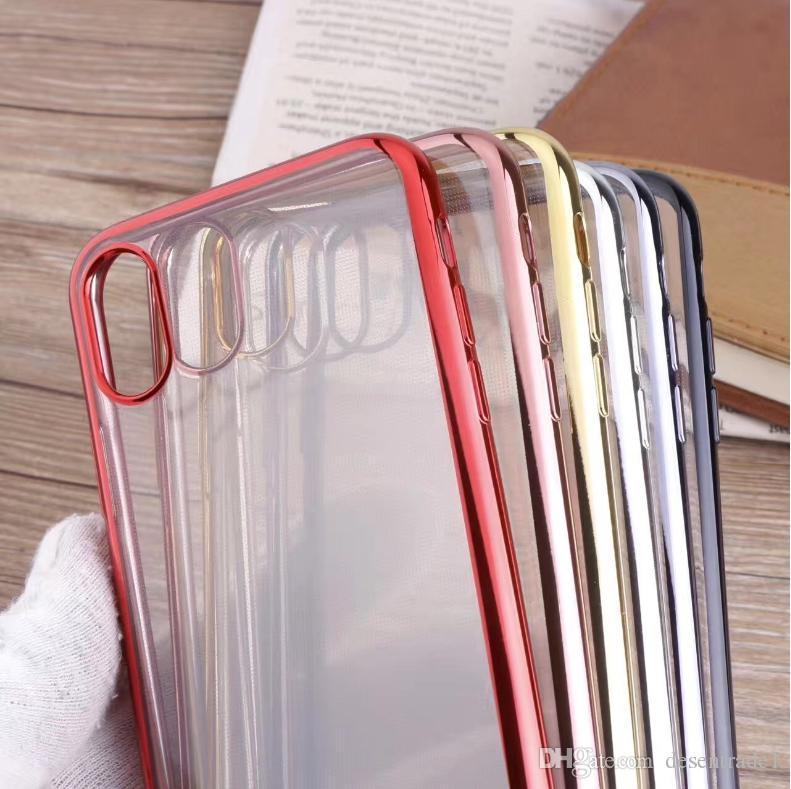 Günstige Handyhüllen Für Iphone X Fall Verchromung Rahmen Weichen ...