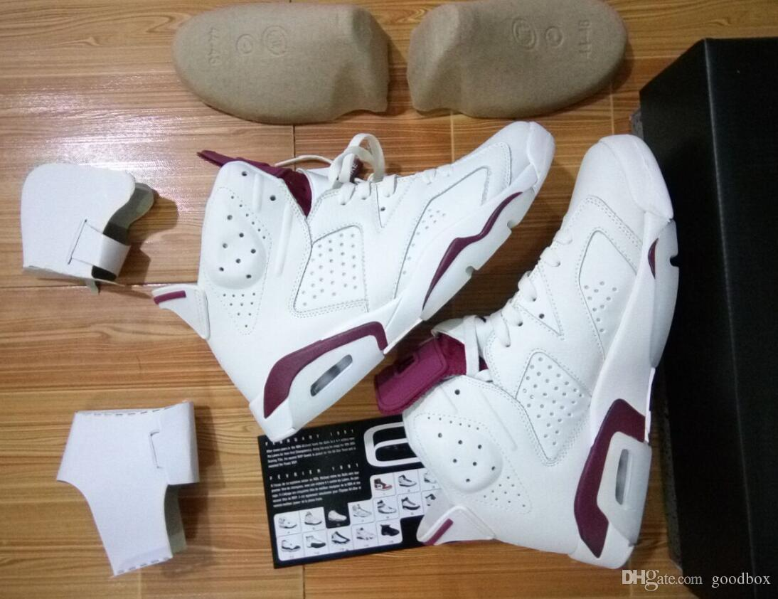 Wholesale OG MAROON 6s Gatorade 6 UNC INFRARED RED Top Quality man basketball shoes With Box Sport Shoes Size eur 41-47 Free shipping
