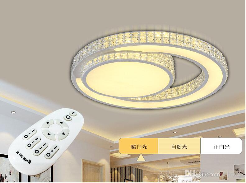 Lámpara de techo de cristal moderna luces de dormitorio luminarias de led luz de la sala plafondlamp accesorios iluminación empotrada