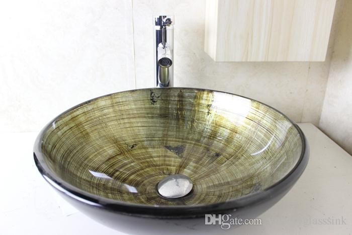 vidrio templado lavabo de fregadero lavabo de lavabo lavabo de cuarto de bao lavamanos lavamanos lavabo