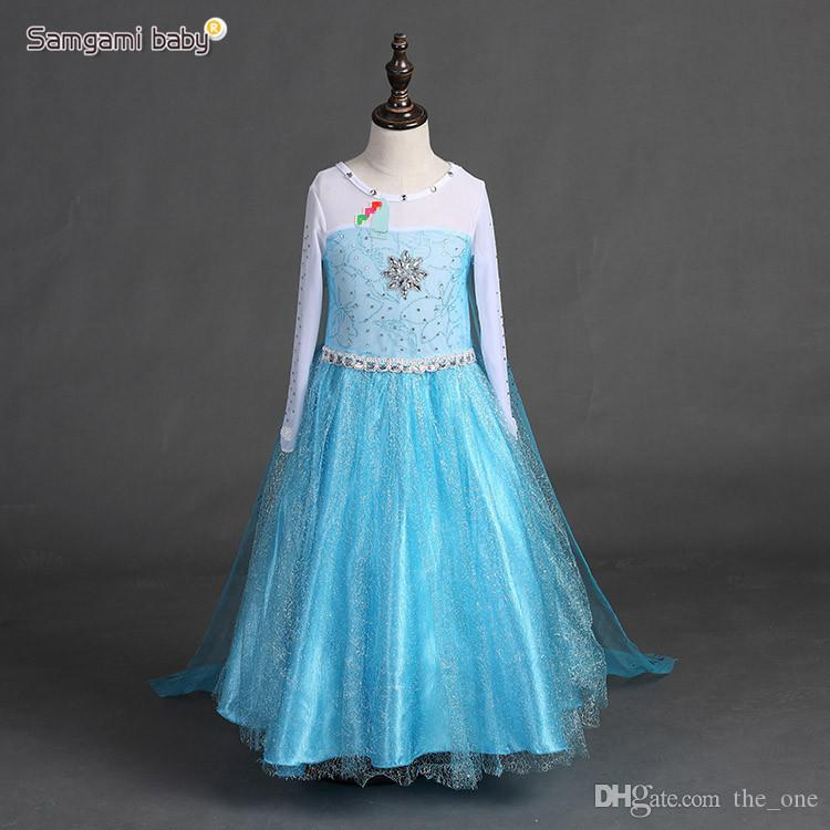 3ebfbe1e84cb Blue Princess Dress for Baby Girl Costume Dress for Children Movie ...