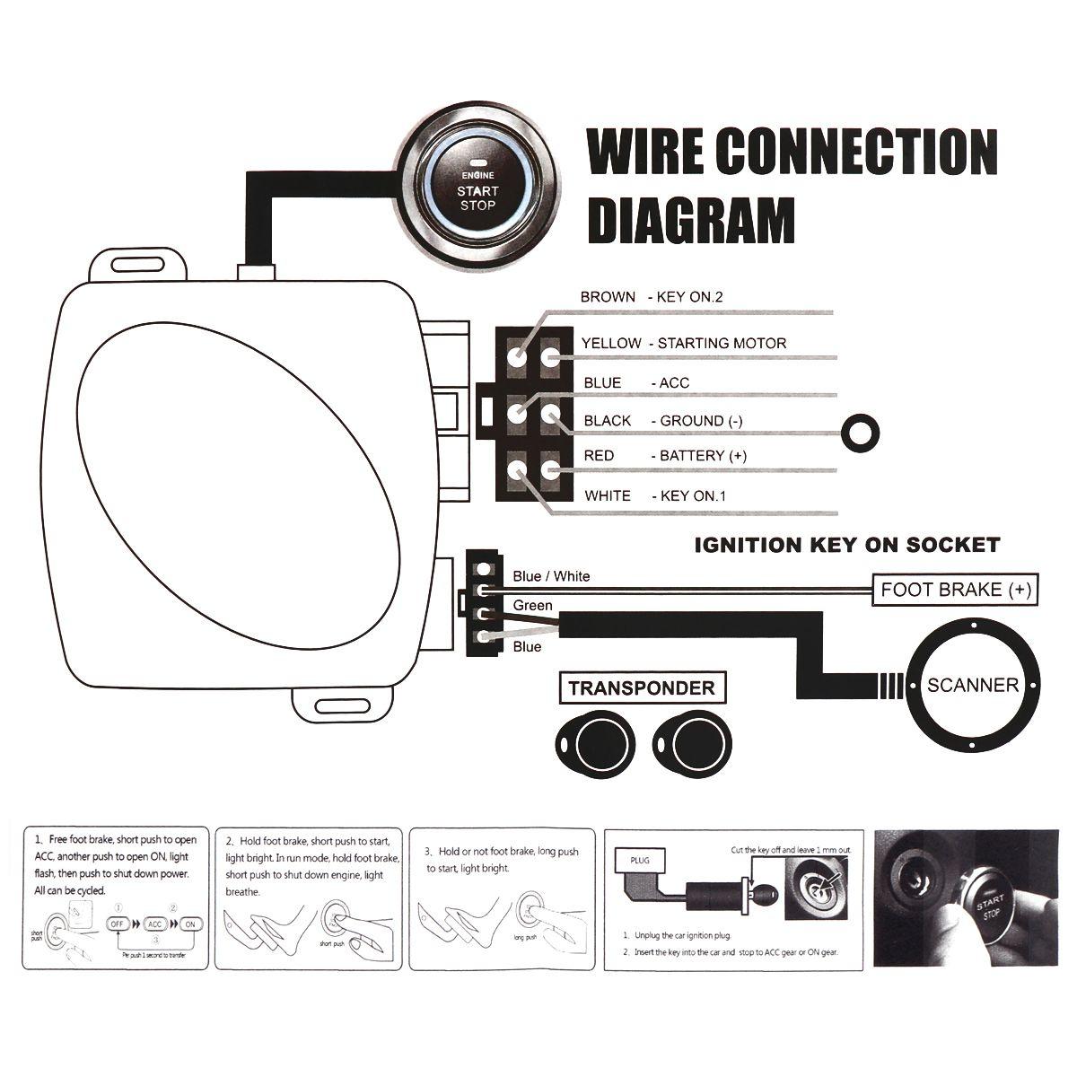 Evrensel 12 V Oto RFID Araba Alarm Sistemi ve Totemeli kilit Anti-hırsızlık Push Start Sistemi CAL_10G