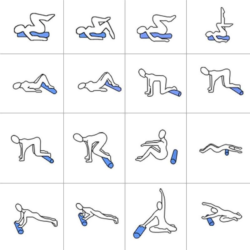 45*15cm 3 in 1 Yoga Exercise Fitness Massage Spike Yoga Foam Roller Yoga Column Massage Trigger Point Stick Home Gym CrossFit