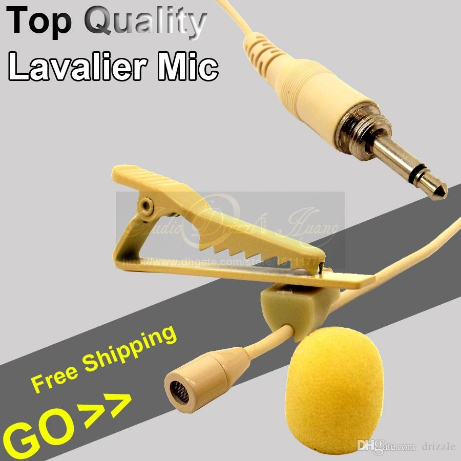 3.5mm Screw Thread Plug Connector Wired Condenser Lavalier Microphone Lapel Tie Clip Mic For FM Wireless Device Karaoke Mike