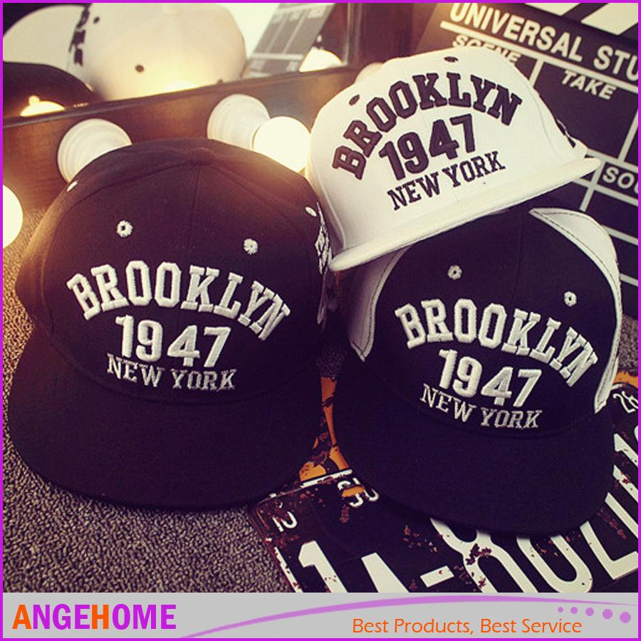 Brooklyn 1947 New York Letters Snapback Caps Embroidery Men Women ... 711d1fc1139