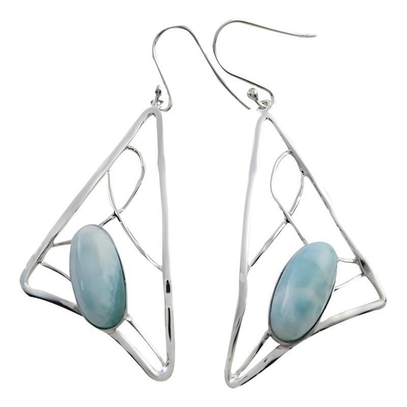 jewelry nature beyond sterling lar larimar earrings starfish silver