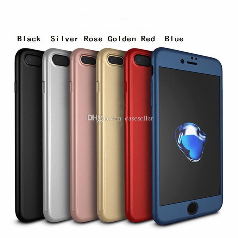 360 grad volle abdeckung schutz mit gehärtetem glas harten pc abdeckung case für iphone xs max x 8 plus 6 s plus 5 s se