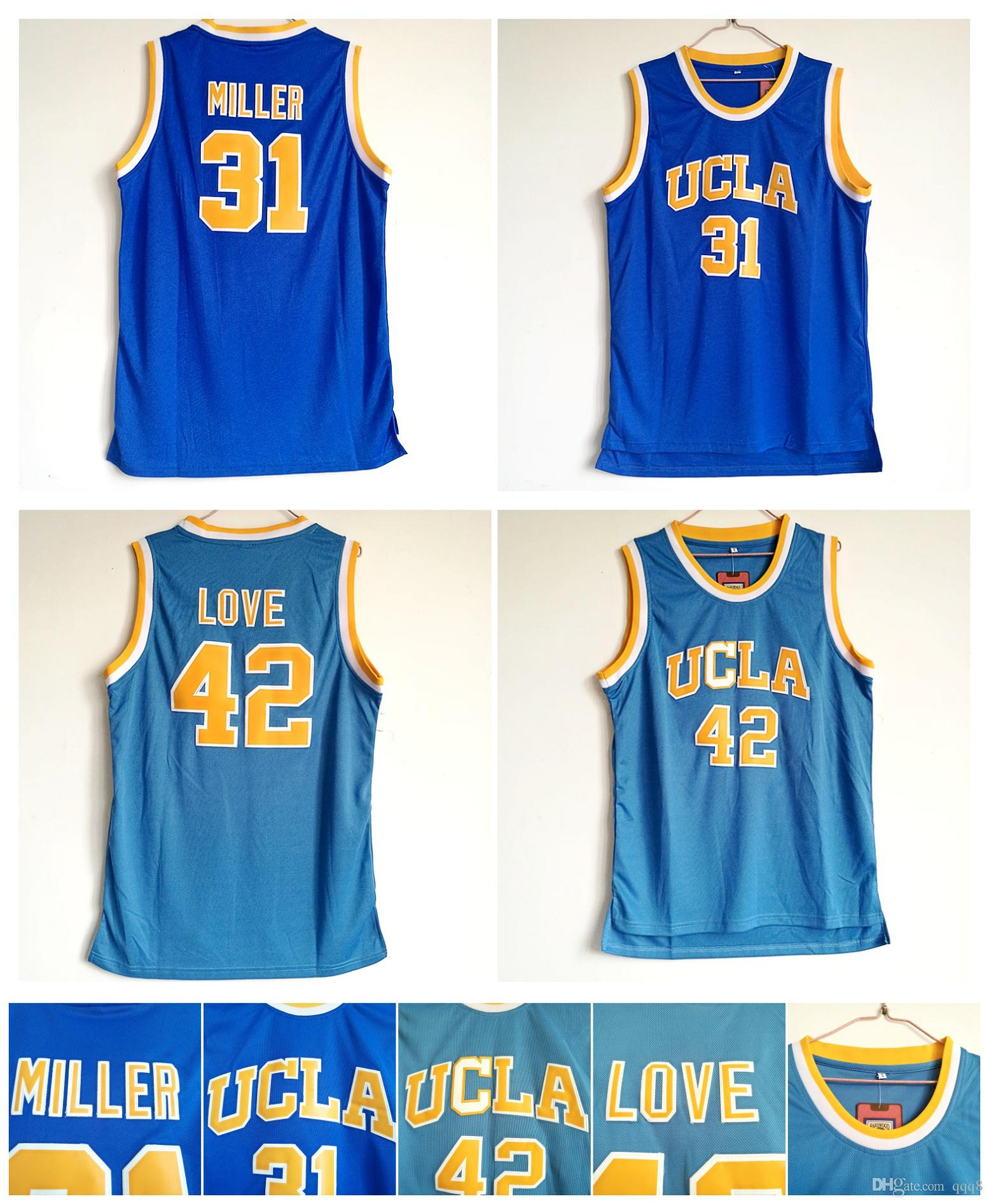 fe747cb06839 ... throwback stitched college basketball 2017 31 reggie miller jersey ucla  bruins jersey 42 kevin love college