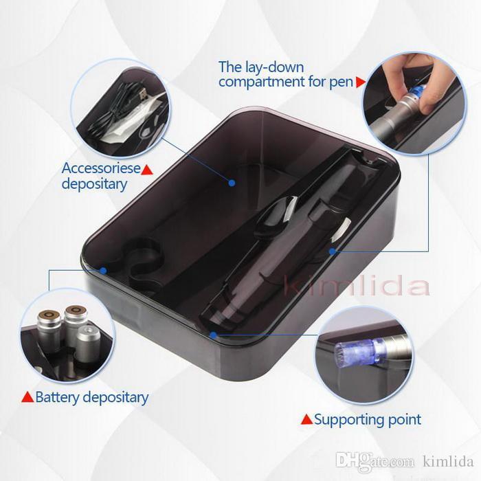 En Yeni Derma kalem Yüksek Kalite Dr.pen Ultima A6 Oto Elektrik Mikro İğne kalem 2 piller Şarj edilebilir mezo dermapen