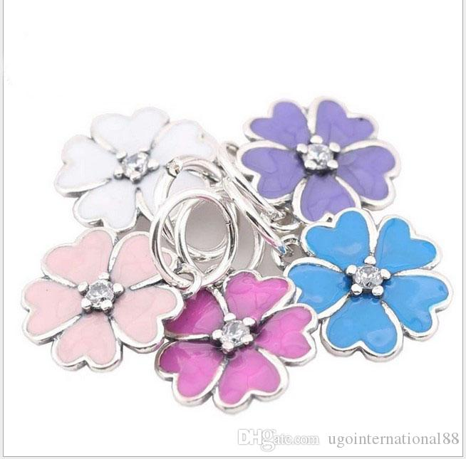 82038d695 2019 Fits Pandora Bracelets Beautiful Primrose Flower Silver Charms Bead  Dangle Charm Beads For Wholesale Diy European Sterling Necklace Jewelry  From ...