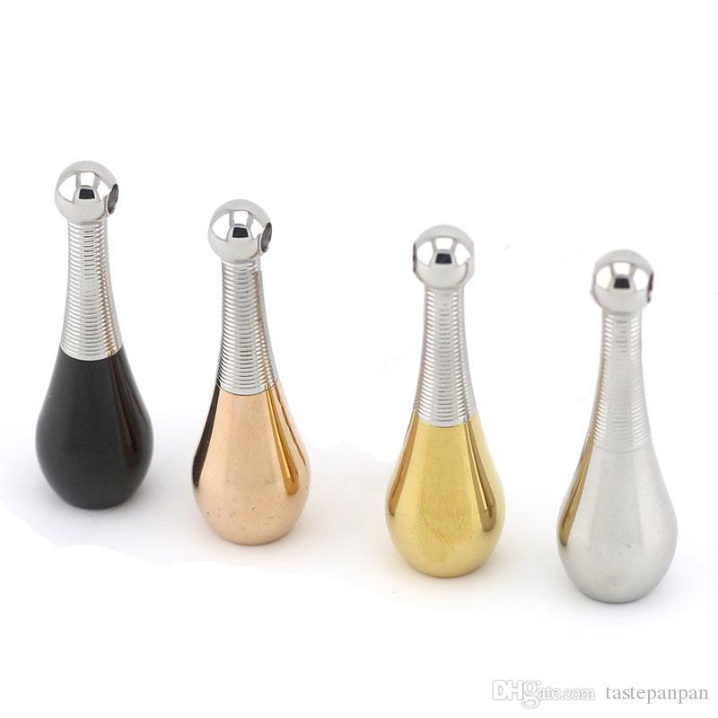 Avec la chaîne en cadeau! En gros collier en acier inoxydable parfum pendentif 40mm forme de bowling pendentif en collier