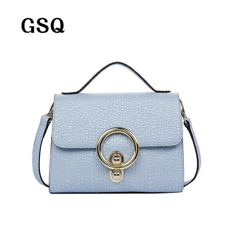 Wholesale GSQ Fashion Genuine Leather Women Messenger Bag Women Handbag  Sequined Hasp Hot Luxury Famous Brand High Quality Lady Bags Designer  Handbags ... 6e9a4b89e1a84