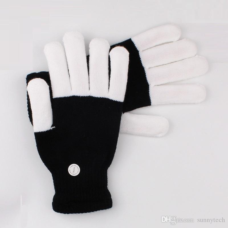 100 stücke ktv club party dance halloween blinkende led flash handschuhe finger leuchten glow handschuhe kostüm licht zeigen weihnachten festlich